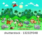 Jungle Animals. The Sides...