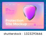 vector realistic 3d protection... | Shutterstock .eps vector #1323293666