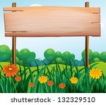 Illustration Of A Wooden...