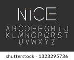 font logo. modern design vector ...   Shutterstock .eps vector #1323295736
