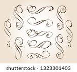 set of decorative elements.... | Shutterstock .eps vector #1323301403