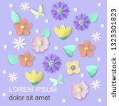spring floral background for...   Shutterstock .eps vector #1323301823