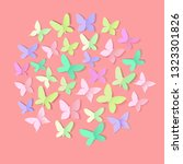 spring butterfly background for ...   Shutterstock .eps vector #1323301826