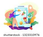 concept of online shopping...   Shutterstock .eps vector #1323310976