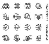 global business icon set with... | Shutterstock .eps vector #1323312983