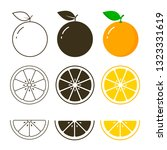 orange fruit icon collection ... | Shutterstock .eps vector #1323331619