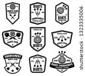 set of darts club label... | Shutterstock .eps vector #1323335006