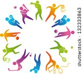 world of sports. vector... | Shutterstock .eps vector #132333863