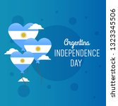 argentina independence day... | Shutterstock .eps vector #1323345506