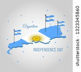 argentina independence day... | Shutterstock .eps vector #1323345860