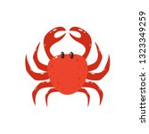 cute crab isolated on white... | Shutterstock . vector #1323349259