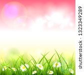 spring or summer nature.... | Shutterstock . vector #1323349289
