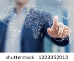 global business and finance... | Shutterstock . vector #1323352013