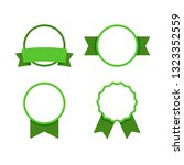round frame  vector ribbon set. ... | Shutterstock .eps vector #1323352559