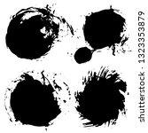 brush strokes. vector... | Shutterstock .eps vector #1323353879