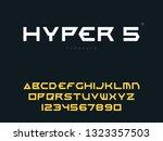 vector latin uppercase alphabet ... | Shutterstock .eps vector #1323357503