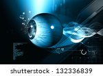 digital illustration of  eye  ... | Shutterstock . vector #132336839