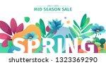 template design banner for... | Shutterstock .eps vector #1323369290