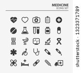 medical icon set. 25 silhouette ... | Shutterstock .eps vector #1323371789