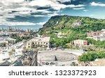 barcelona  spain. aerial view...   Shutterstock . vector #1323372923