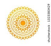 beautiful sun. hand drawn with... | Shutterstock .eps vector #1323383429