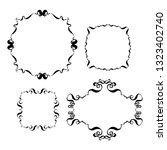 set of vintage ornate frames.... | Shutterstock .eps vector #1323402740