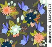 abstract floral pattern | Shutterstock .eps vector #1323408323