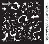 hand drawn arrow doodle... | Shutterstock .eps vector #1323418250