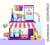 concept of mobile online...   Shutterstock .eps vector #1323419813