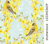 Spring Seamless Pattern With...