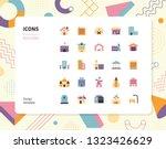 simple color building icon set. ... | Shutterstock .eps vector #1323426629