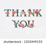 thank you   stylish inscription ... | Shutterstock .eps vector #1323449153