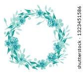 watercolor floral wreath  ...   Shutterstock . vector #1323451586