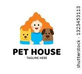 pet house logo design template. ... | Shutterstock .eps vector #1323453113