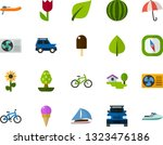 color flat icon set   easter... | Shutterstock .eps vector #1323476186