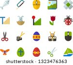 color flat icon set   easter... | Shutterstock .eps vector #1323476363