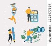 vector cartoon illustration of... | Shutterstock .eps vector #1323477539