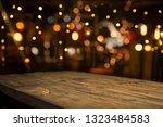 beer barrel with beer glasses... | Shutterstock . vector #1323484583
