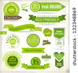 set of eco labels | Shutterstock .eps vector #132348869