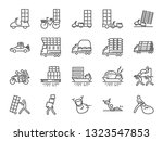 overweight transport line icon... | Shutterstock .eps vector #1323547853