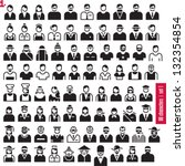 people icons. 80 characters set ... | Shutterstock .eps vector #132354854