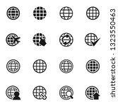 set of icons on a theme the...   Shutterstock .eps vector #1323550463