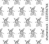 hawk moth seamless pattern... | Shutterstock .eps vector #1323556766