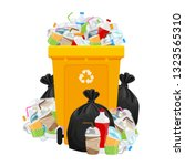 illustration garbage waste and... | Shutterstock .eps vector #1323565310