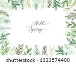 hand drawn watercolor...   Shutterstock . vector #1323574400