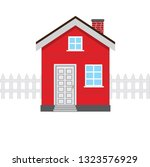 red house icons | Shutterstock .eps vector #1323576929