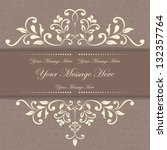 invitation card with floral... | Shutterstock .eps vector #132357764