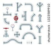 steel pipes industrial set ... | Shutterstock .eps vector #1323589910