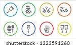 broken icon set. 8 filled... | Shutterstock .eps vector #1323591260