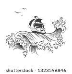 ocean graphic vector... | Shutterstock .eps vector #1323596846
